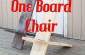 Een bord minimalistische stoel