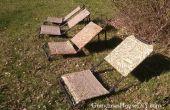 DIY ligstoelen uit oude gans jacht stoelen
