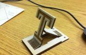 Laser Cut Temple University telefoon Stand