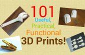 101 nuttige, praktische, functionele 3d prenten!