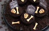 Spookachtige kerkhof Chocolate Cookies N' Cream Cupcakes
