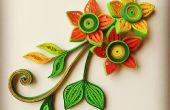 Prachtige 3D quilled bloemen en bladeren van kras!