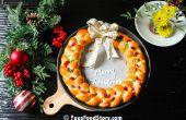 Mama's brood krans voor Kerstmis