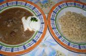Hongaarse lever soep (Majleves)