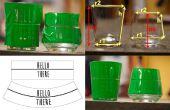 Vervormen Artwork voor glas chemische etsen en Sandblasting