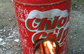 Mini raket kachel uit chips vak