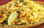 Thaise noedels met kip pad