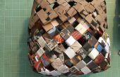 Geweven mand gemaakt van gerecycled papier / troeppost