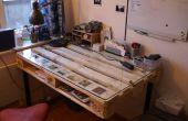 DIY Desk gebouwd met palet