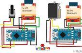 Servo motor control via bluetooth met de potentiometer (potmeter)