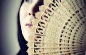 3D afgedrukt Chinees Oosterse vouwen Fan