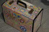 Rock and roll geïnspireerde koffer