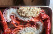 Split Crabcake gevuld kreeft