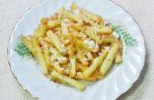 Cheesy aardappel frietjes