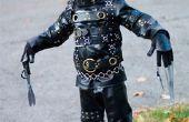Eenvoudige (maar effectieve) Edward Scissorhands kostuum voor kiddos