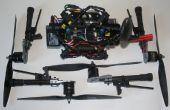 Een vaste arm quadcopter omzetten in een 'rugzak' drone met afneembare