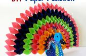 DIY papier ambachtelijke Project: How To Make veelkleurige papieren Peacock voor Decor van het huis