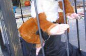 Bouwen van een pneumatisch bediend Yeti in een kooi voor een Halloween Haunted House