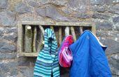 Pallet hout en vertakking van de beslissingsstructuur jas haken