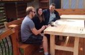Gelaagd houten tafel