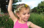 Princess crown of ketting van bloemen gevlochten.