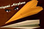 Origami vliegtuig - papier vliegtuig