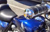 Motorfiets Ledbar einde oogkleppen
