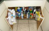 Onder de keuken gootsteen tas opslag