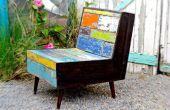 Faux boot hout verf afwerking en pallet houten stoel