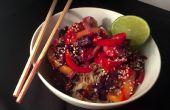 Vriezer aan tabel in 10 minuten: Thaise roerbak met Coconut rijst garnalen