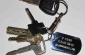 Gebruik e-mail en een hond tag te krijgen uw verloren sleutels (en andere dingen) terug.