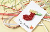 Hoe maak je een vrolijk Kerstkaart met papier kous filigraan