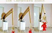 Gigantische Computer-Controlled Robotic Arm gemaakt van oude kartonnen dozen
