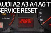 Resetten service herinnering in het Audi A2, A3, A4, A6, TT
