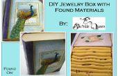 DIY sieraden doos met gevonden materialen