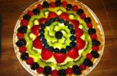 Cheese Cake met Topping van Fruit geglazuurde