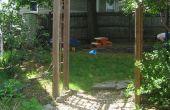 Huis-gebouwde tuin Arbor