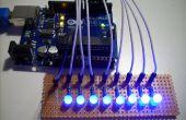 Verschillende methoden van het besturen van de 7 Segment LED beeldschermen met Arduino