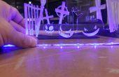 Laser Cut Edge Lit Halloween Display - ik maakte het op TechShop!
