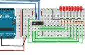 Hoe maak je een 74HC595 Shift weerstand Circuit