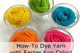 How-to kleurstof garen met paasei kleuren