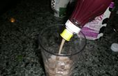 Wat kan ik doen met een lege fles van siroop? Chocolade melk maken!