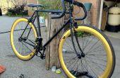 Herstellen en transformeren van een oude fiets in een slanke Fixie