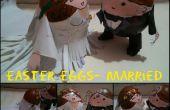 Pasen eieren-bruidspaar