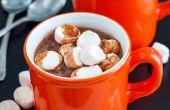 Warm chocolade & Marshmallows verrijkt met Rum