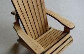 Bamboe Adirondack stoel (schaalmodel)