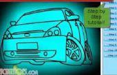 Hoe teken je een eenvoudige auto