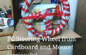 PC stuurwiel en Gas pedalen - gebruik enige karton en een muis