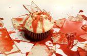 Bloedend gebroken glas Candy Cupcakes voor Halloween