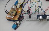[Arduino project] #Remote Monitoring van ultrasone Sensor waarde met behulp van ioShield-A & Cloud Server
